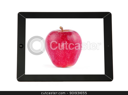 tablet computer stock photo, tablet computer in a hand by Vitaliy Pakhnyushchyy