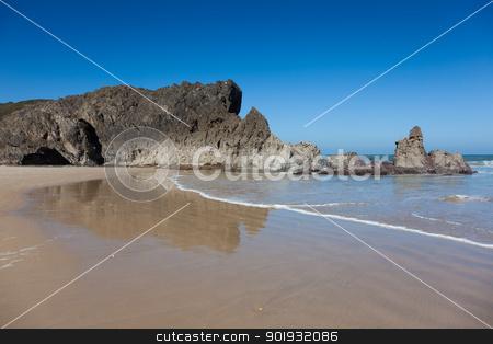 Beach of San Antolin, Llanes, Asturias, Spain stock photo, Beach of San Antolin, Llanes, Asturias, Spain by B.F.