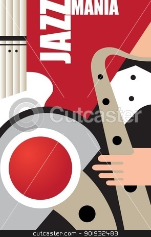 Jazz stock vector clipart, Abstract musical background on jazz subjects by Mikhail Puhachou