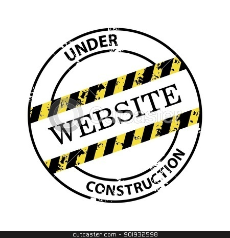 Under construction stock vector clipart, Under construction abstract vector stamp by Mikhail Puhachou