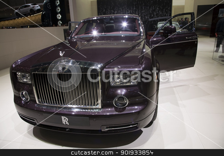 Rolls Royce Phantom stock photo, GENEVA, SWITZERLAND - MARCH 4, 2011 - Rolls Royce Phantom is presented at the annual motor show in Geneva on March 4, 2011. by Abdul Sami Haqqani