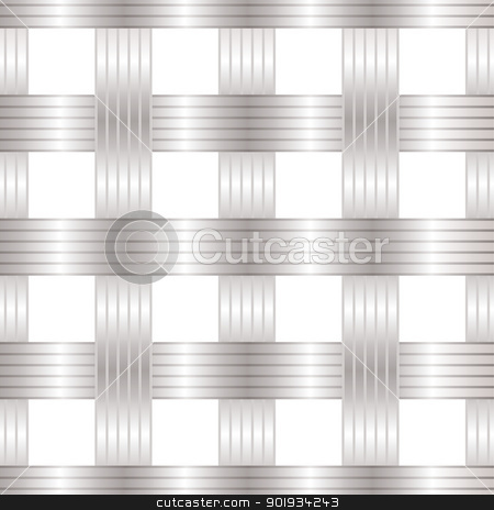 Seamless metal lattice stock vector clipart, Seamless metal lattice design pattern background by Michael Travers