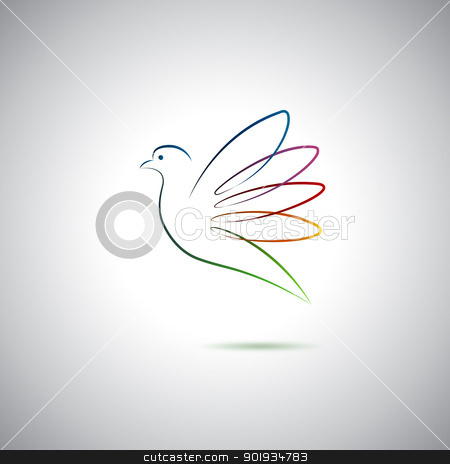 Dove and peace stock vector clipart, Dove and peace logo by Seyyah