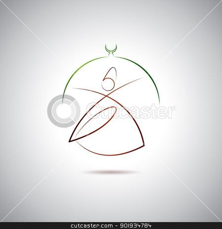 Dervish logo stock vector clipart, Turkish Dervish in Konya by Seyyah