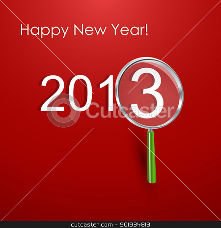 Happy New Year Card stock vector clipart, Happy New Year Card by Erdem