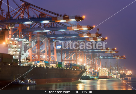 In the harbour stock photo, Eurogate at the harbour Hamburg in Germany by Picturehunter