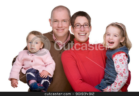 The family stock photo, Full isolated studio picture of a happy  caucasian family by Picturehunter