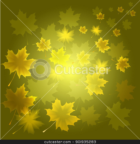 abstract flora background stock photo, Abstract autumn background from flying leaves of a maple  by aarrows