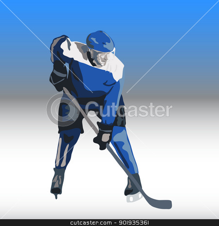 Ice hockey players. Vector illustration stock photo, Ice hockey players. Vector illustration by aarrows