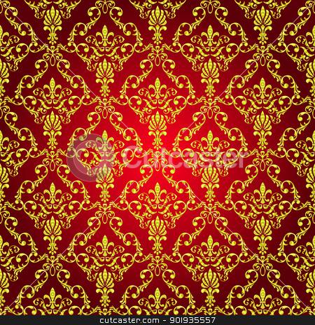 Seamless wallpaper pattern  stock photo, Seamless wallpaper pattern from abstract smooth forms, vector by aarrows