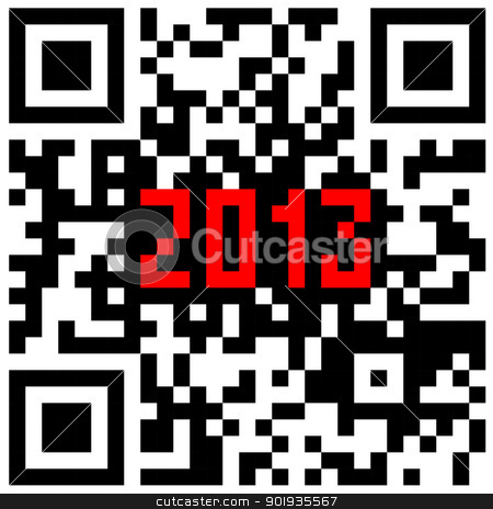 2013 New Year counter, QR code vector. stock photo, 2013 New Year counter, QR code vector. by aarrows