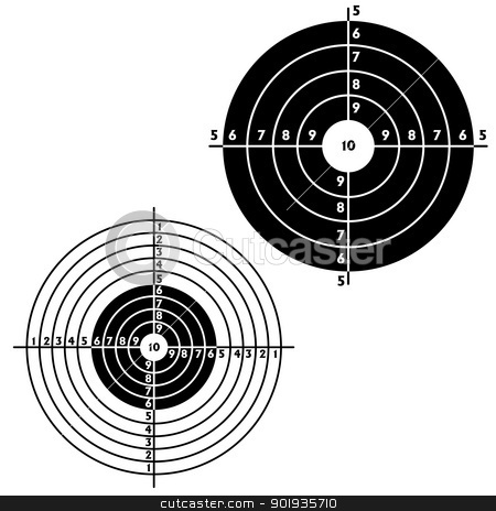 Set targets for practical pistol shooting stock photo, Set targets for practical pistol shooting, exercise. Vector illustration by aarrows