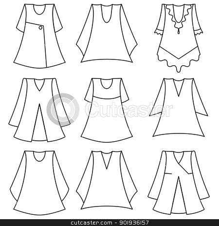 set of fashionable  dresses for girl stock photo,  set of fashionable  dresses for girl by aarrows