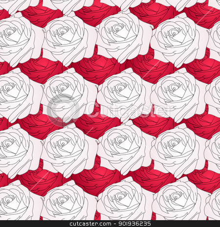 Seamless  background with flower roses.  stock photo, Seamless  background with flower roses. Could be used as seamless wallpaper, textile, wrapping paper or background  by aarrows