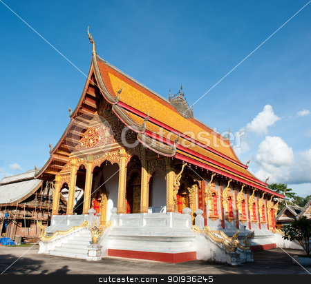 Buddhist Temple in Laos  stock photo, Buddhist Temple in Luang Prabang,  Laos  by Pablo Caridad