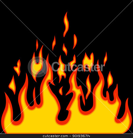 Burn flame fire vector background stock photo, Burn flame fire vector background by aarrows