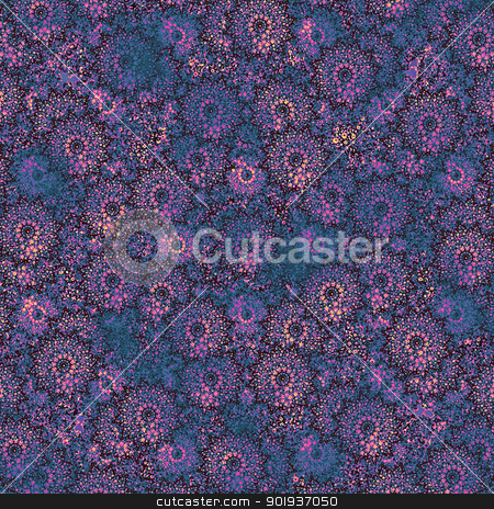 Flower Decorative Background stock photo, Flower decorative background in blue and magenta colors.Useful as background, texture, female topics, etc. by Daniel