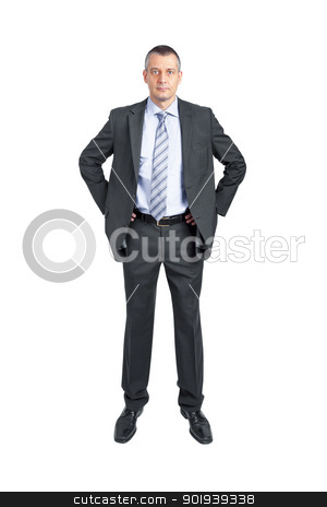 business man stock photo, An image of a handsome business man isolated on white by Markus Gann