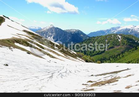 beautiful green mountain landscape                  stock photo, beautiful green mountain landscape                                 by aarrows