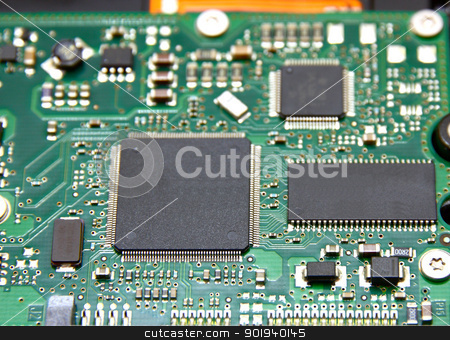 The hard disk (HDD) stock photo, The hard disk (HDD) from the computer lies on a white background by aarrows