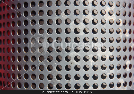 metal holed or perforated grid background stock photo, metal holed or perforated grid background by aarrows