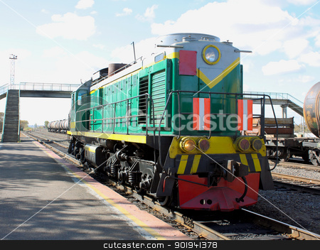 Diesel engine - the locomotive stock photo, Diesel engine - the locomotive by aarrows