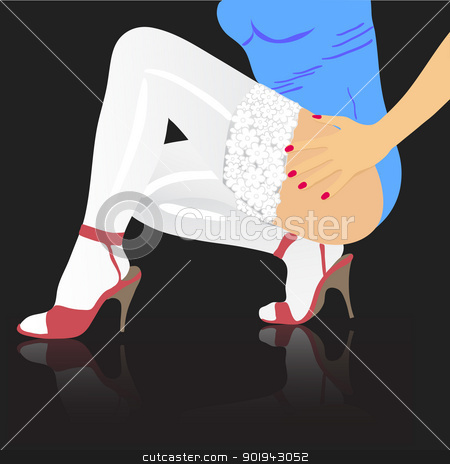 Beautiful female feet.  stock vector clipart, Beautiful female feet. vector background  by aarrows