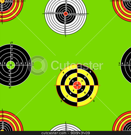 Seamless background of Targets stock vector clipart, Seamless background of Targets by aarrows