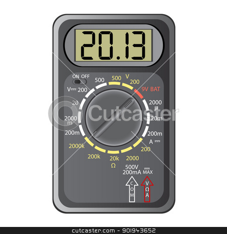 2013 New Year Multimeter , vector. stock vector clipart, 2013 New Year Multimeter  on a white background, vector. by aarrows