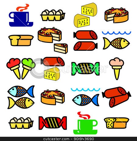 Vector set of food. stock vector clipart, Vector set of food. by aarrows