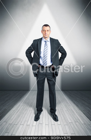 manager career stock photo, An image of a manager in a arrow shape light upwards by Markus Gann