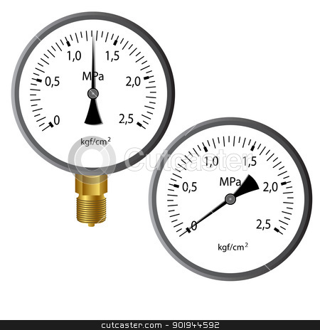 The gas manometer stock vector clipart, The gas manometer isolated on white background by aarrows