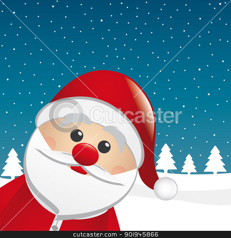 santa claus look from the side stock photo, santa claus figure look from the side by d3images