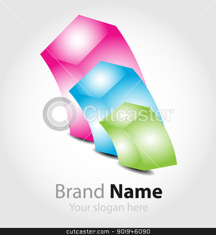 Brand logo in candy colors stock vector clipart, Originally designed vector brand logo in candy color palette by Vladimir Repka