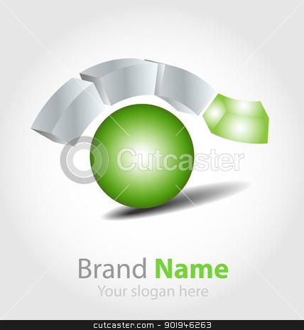 Brand logo in ecology scheme  stock vector clipart, Originally designed vector brand logo in ecology color by Vladimir Repka