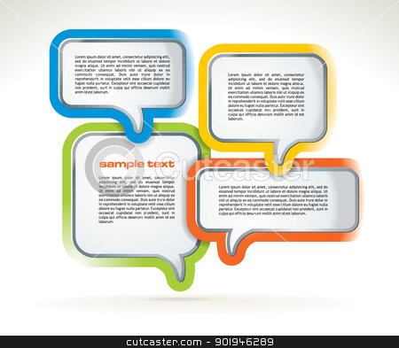 Abstract web design stock vector clipart, Abstract web design bubbles - vector illustration by ojal_2