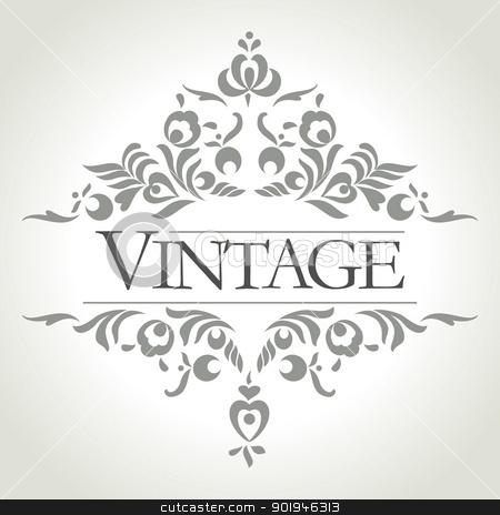 vector vintage frame stock vector clipart, vintage frame design - vector illistration by ojal_2
