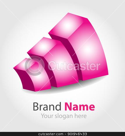 Vector brand logo  stock vector clipart, Originally designed vector brand purple logo by Vladimir Repka