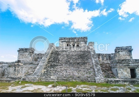 Mayan Ruins Tulum Mexico 11 stock photo, The Ancient Mayan Ruins Tulum Mexico  by Trevor Jordan