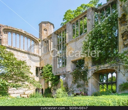 Ruined Mansion 1 stock photo, Beautiful English country garden in a ruined manor house in the Cotswolds. by Trevor Jordan