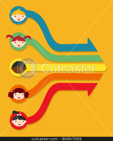 Education network: School student diagram stock vector clipart, Diversity education at school children network diagram illustration. Vector illustration layered for easy manipulation and custom coloring. by Cienpies Design