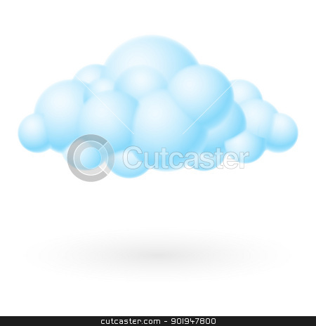 Bubble Cloud stock photo, Bubble Cloud icon. Illustration on white background for design by dvarg