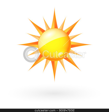 Sun icon stock photo, Abstract Sun icon. Illustration on white background for Web-design by dvarg