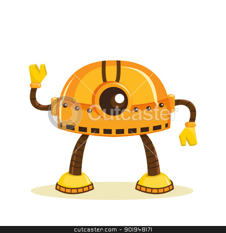 Cartoon robot stock photo, Cartoon robot, vector illustration by kariiika