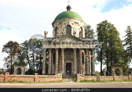 Old Catholic church stock photo, Old Catholic church, Pidgirtsy, Lviv region, Ukraine by Oleksandr Pakhay