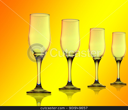 glass  stock photo, glass on a colorful background by Oleksandr Pakhay