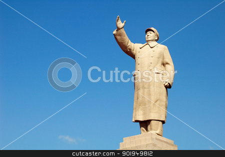 Chairman Mao's Statue stock photo, Historical statue of China's former leader Chairman Mao Tsedong by John Young