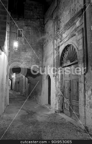 The Street of the Knights stock photo, The ancient street of the knights in Rhodes Greece by Ollie Taylor