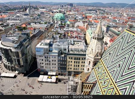 Vienna, Austria  stock photo, Panorama of Vienna, aerial view from Stephansdom cathedral, Vienna, Austria  by vladacanon1