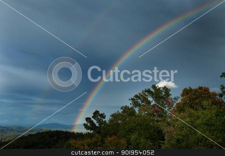 Double Rainbow stock photo, A double rainbow in the Smokey Mountains. by Joe Tabb